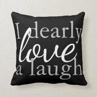 Black & White Throw Pillow Jane Austen Book Quote