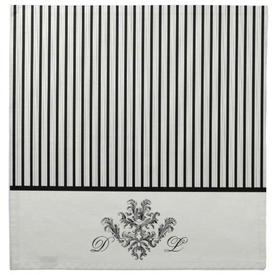 Black & White Ticking Stripes Napkin