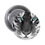 Black White Tiger 2 Inch Round Button