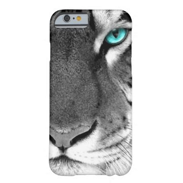 Black White Tiger Barely There iPhone 6 Case at Zazzle