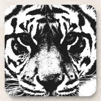Black & White Tiger Beverage Coaster