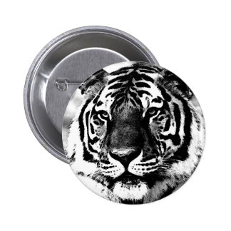 Black & White Tiger Button