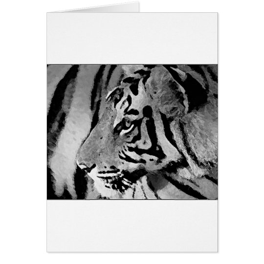 Black & White Tiger Card
