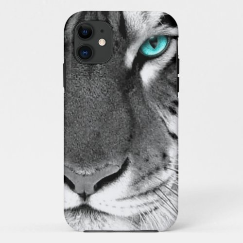 Black White Tiger Phone Case