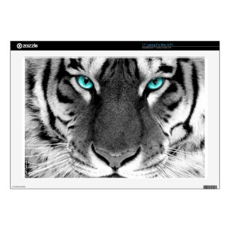 "Black White Tiger Decal For 17"" Laptop"