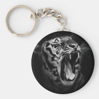 Black & White Tiger Inspirational Keychain