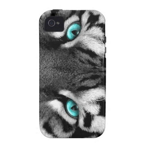 Black White Tiger iPhone 4/4S Covers