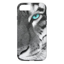 Black White Tiger iPhone 7 Case