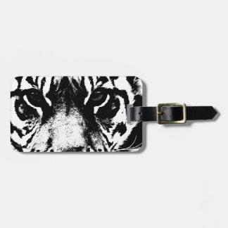 Black White Tiger Luggage Tags