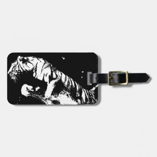 Black White Tiger Tag For Luggage