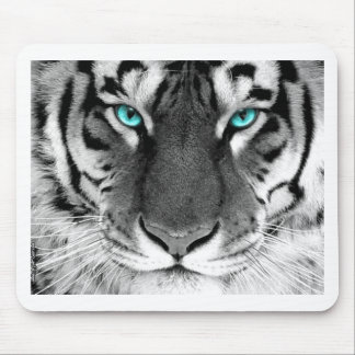 Black White Tiger Mouse Pad