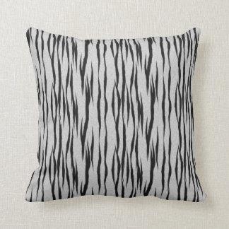 Black & White Tiger Print Pillow