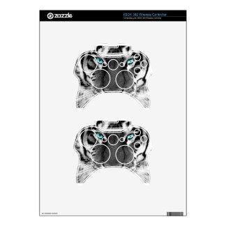 Black White Tiger Xbox 360 Controller Skin
