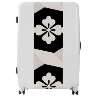 Black White Tiles Luggage