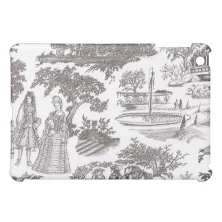Black & White Toile iPad Case