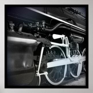 Black & White Train Poster