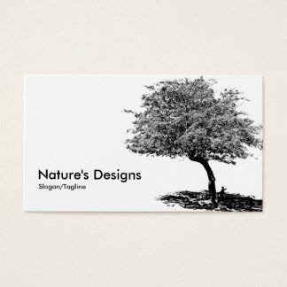 Black & White Tree Business Card