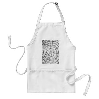 Black & White Tree Trunk Contemporary Collection Adult Apron