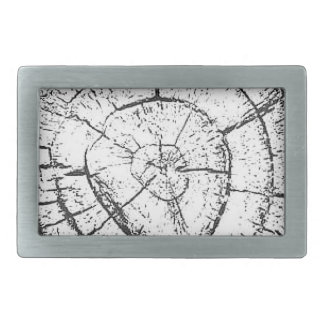 Black & White Tree Trunk Contemporary Collection Belt Buckle