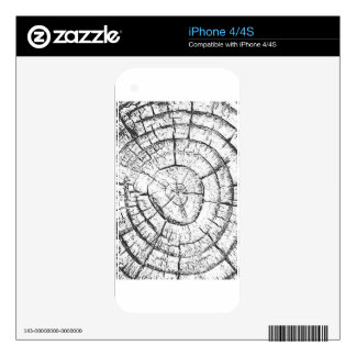 Black & White Tree Trunk Contemporary Collection iPhone 4S Decal