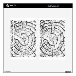 Black & White Tree Trunk Contemporary Collection Skin For Kindle Fire