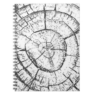 Black & White Tree Trunk Contemporary Collection Spiral Notebook