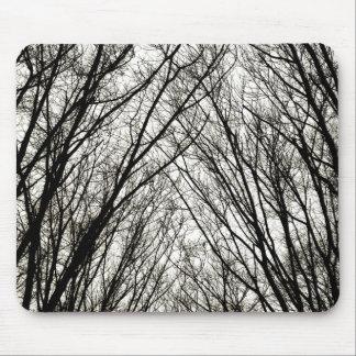 Black & White Trees mousepad
