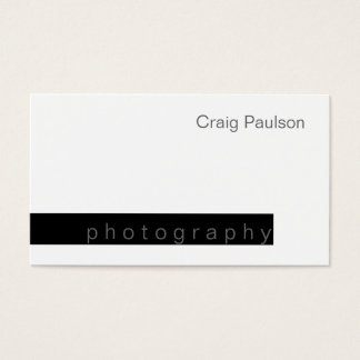 Black & White Trend Photography Business Card