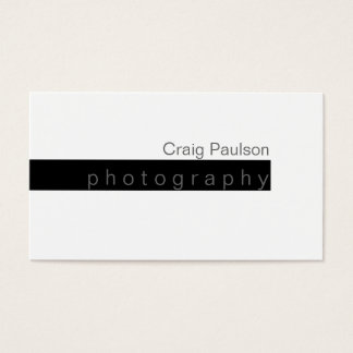Black & White Trend Plain Business Card