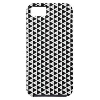 Black White Triangle Pattern iPhone Case