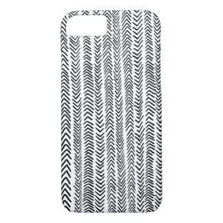 Black White Tribal Chevron Pattern iPhone 7 Case
