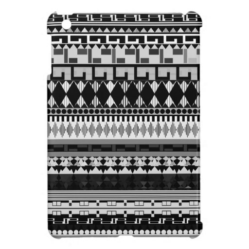 Black & White Tribal Cover For The iPad Mini
