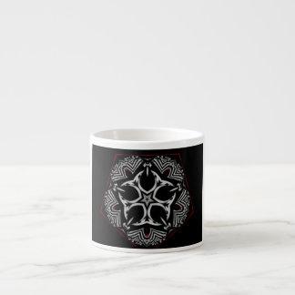 Black White Tribal Mandala Star Espresso Cup Mug