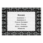 black white tribal pattern business cards