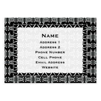 black white tribal pattern large business card