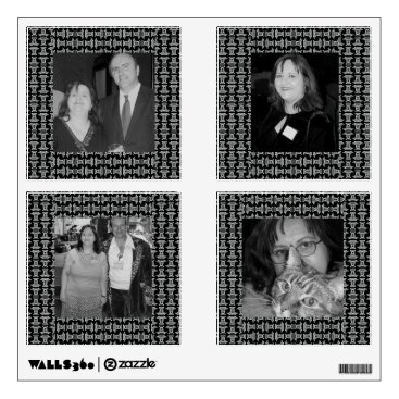 Aztec Themed Black White Tribal Pattern Photoframe Wall Decal