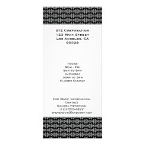 black white tribal pattern rack card