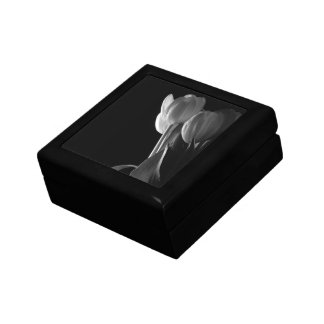 Black & White Tulips Jewelry Box