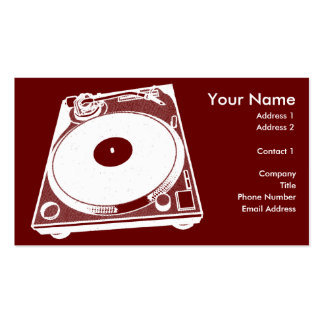 Black White Turntable Business Card Template