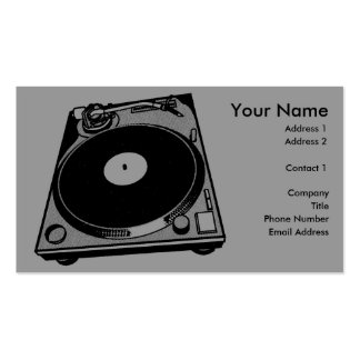 Black & White Turntable Business Card