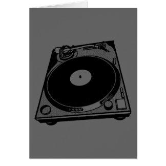 Black & White Turntable Card