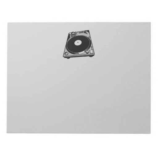 Black & White Turntable Memo Note Pad