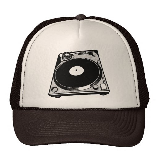Black & White Turntable Mesh Hats
