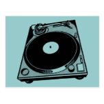 Black & White Turntable Post Cards