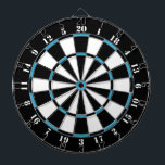 "Black White Turquoise Blue Dart Board<br><div class=""desc"">Black White Turquoise Blue Dart Board. 