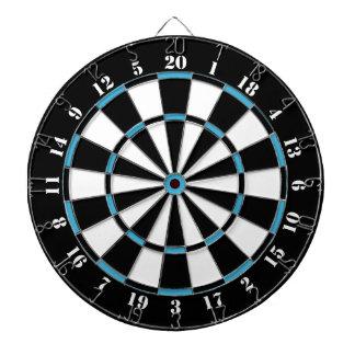 Black White Turquoise Blue Dart Board