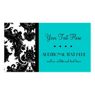 Black, White & Turquoise Business Card