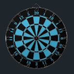"Black White Turquoise Dart Board<br><div class=""desc"">Black White Turquoise Dart Board. 