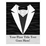 """Black/White Tuxedo 4.5"""" X 5.6"""" Flyer"""