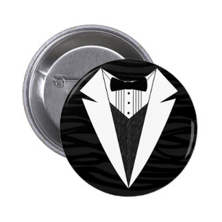 Black/White Tuxedo Button